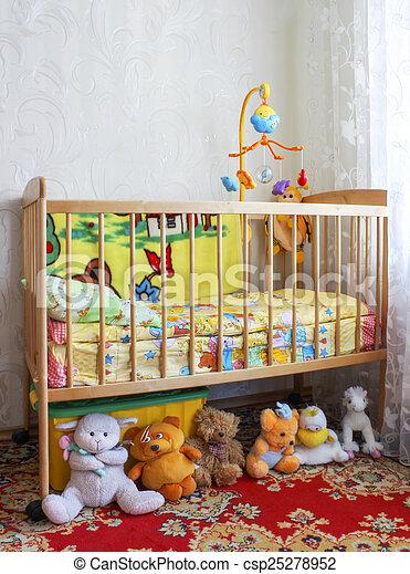 Baby crib - csp25278952