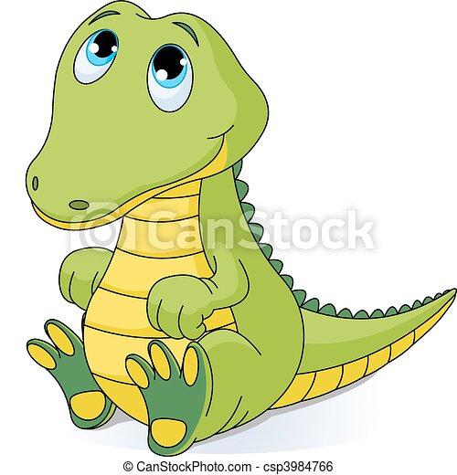 Baby crocodile - csp3984766