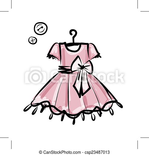 Baby dress on hangers for your design - csp23487013