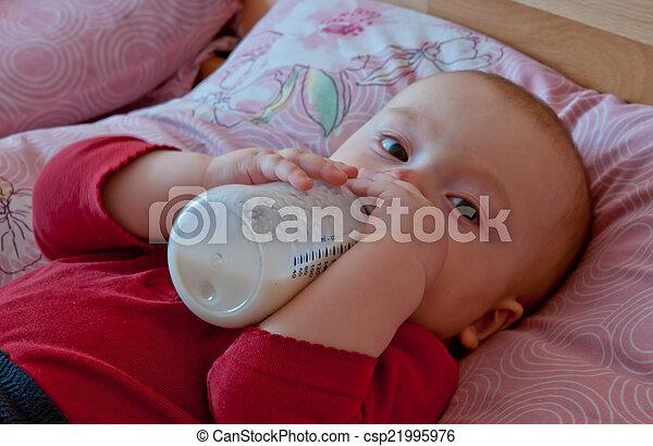 baby drinking - csp21995976