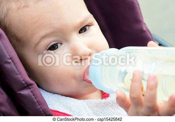 Baby drinking - csp15425842