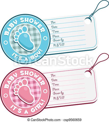 nya lägre priser specialförsäljning kupongskod Baby duscha, inbjudan, fot, märken. Skur, baby, sätta, kort ...