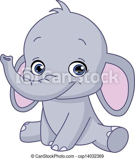 Baby elephant - csp14032369