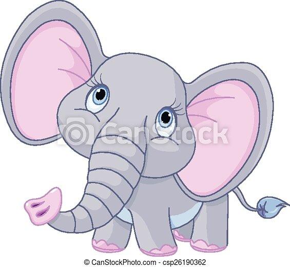 Baby Elephant - csp26190362