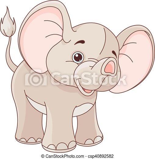 Baby Elephant - csp40892582