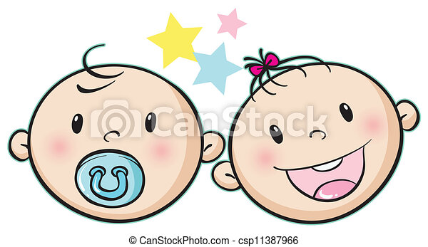 illustration of a baby faces on a white background clip art vector rh canstockphoto ca baby face clipart png crying baby face clipart