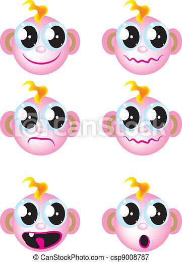 baby faces - csp9008787