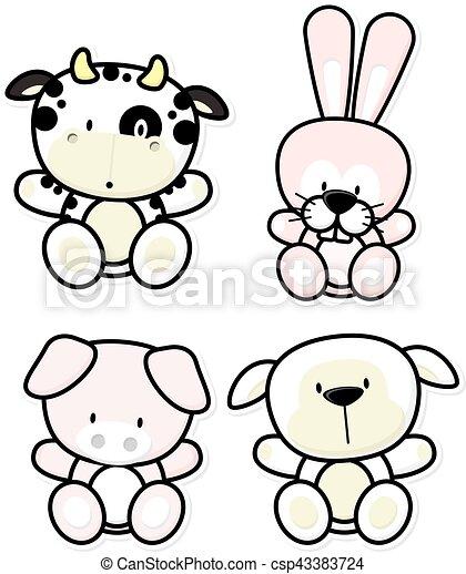 baby farm animals - csp43383724