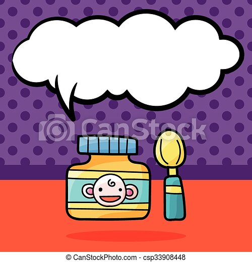 baby food doodle eps vector search clip art illustration rh canstockphoto com  cute baby food clipart