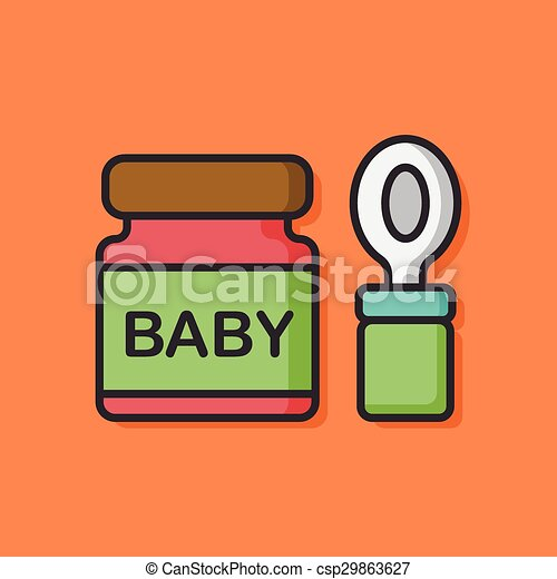 baby food icon vector illustration search clipart drawings and rh canstockphoto com baby food jar clipart Baby Wipes Clip Art
