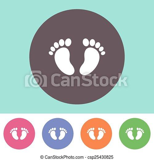 Baby footprint icon  - csp25430825
