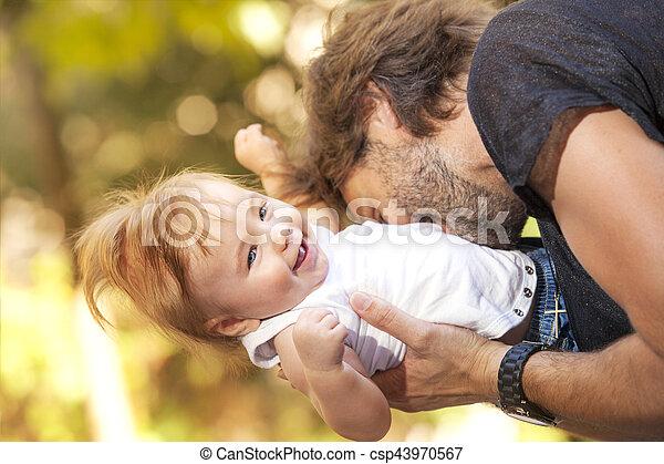 Baby fother sun - csp43970567