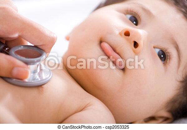 baby, gecontroleerde, arts - csp2053325