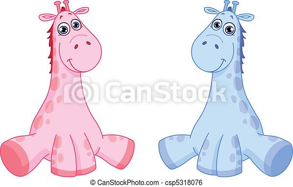 baby, giraffes - csp5318076