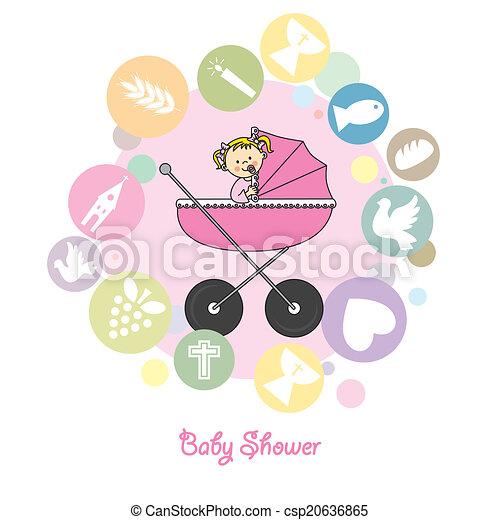 baby girl baptism invitation card