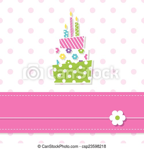 baby girl birthday cake - csp23598218