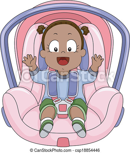 Baby Girl Car Seat - csp18854446