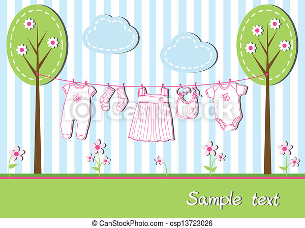 Baby girl card - csp13723026