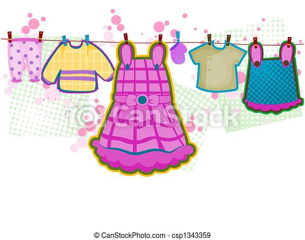 Baby Girl Clothes - csp1343359