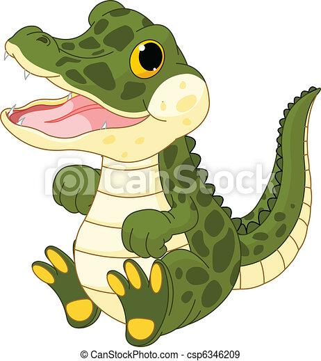 Baby girl crocodile - csp6346209