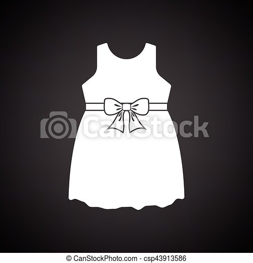 Baby icons black and white dresses