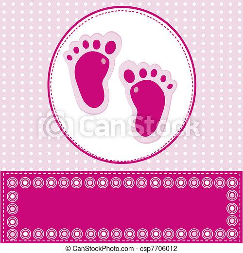 baby girl greeting card