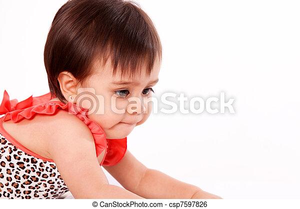 baby girl lying  - csp7597826