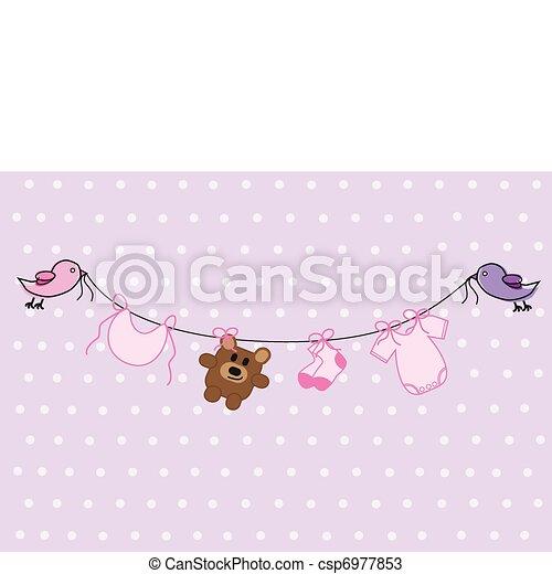 Baby Girl Shower - csp6977853