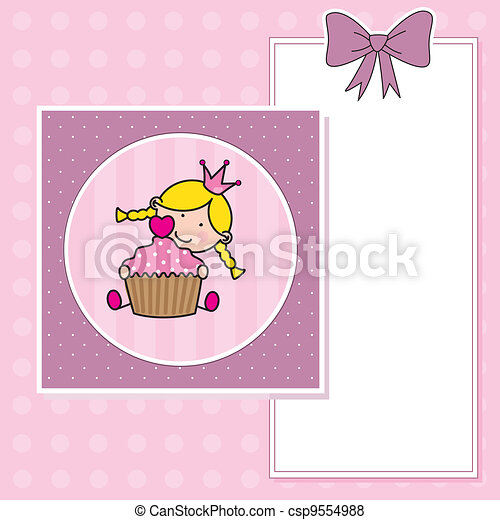 Baby girl with a muffin - csp9554988