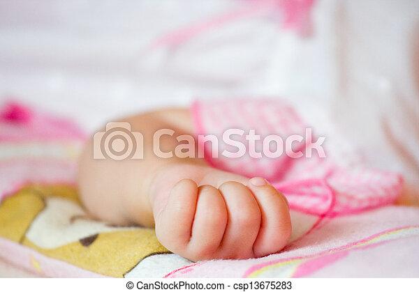 baby hand gesturing  - csp13675283