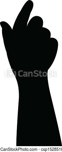 baby hand silhouette vector  - csp15285107