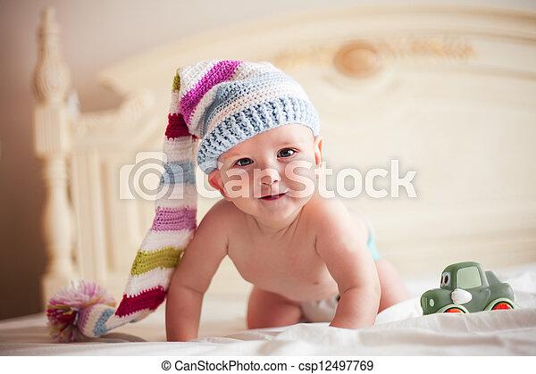 Baby Hoedje Haken Alles Vier Haken Baby Het Glimlachen Five