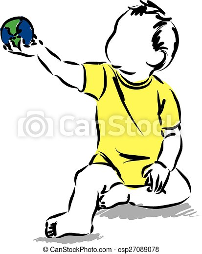 Baby holding a world map sphere ball illustrationeps baby holding baby holding a world map sphere ball illustrationeps gumiabroncs Choice Image