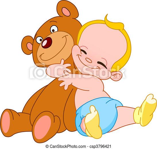 Baby hug bear - csp3796421