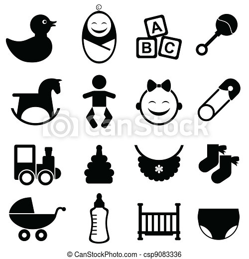 Baby icon set - csp9083336