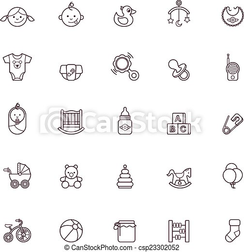 Baby icon set - csp23302052