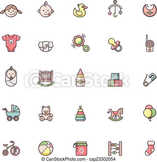 Baby icon set - csp23302054