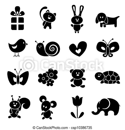 Baby icon set - csp10386735