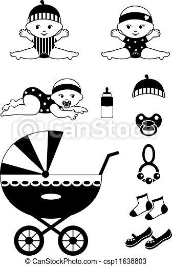 Baby icon set - csp11638803