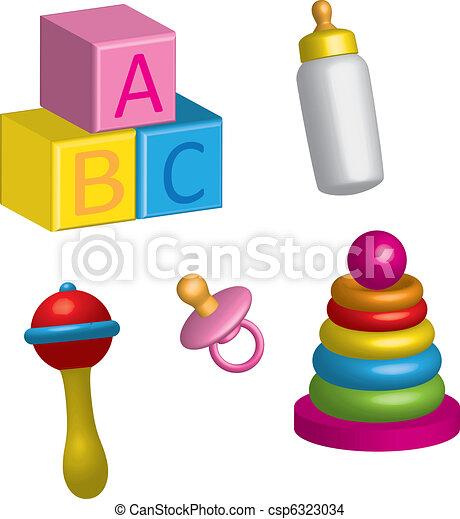 baby icons 3d - csp6323034