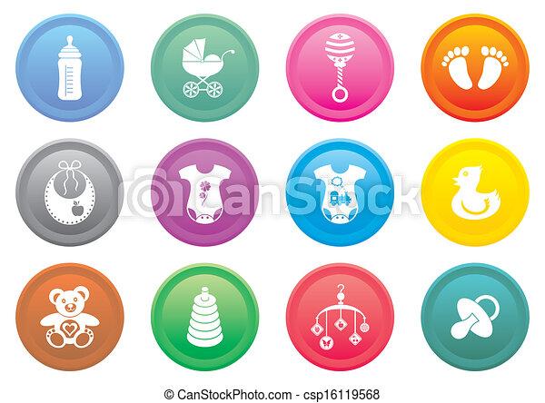Baby icons - csp16119568