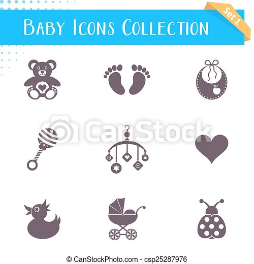 Baby icons collection - csp25287976