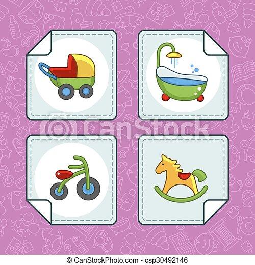 Baby icons - csp30492146