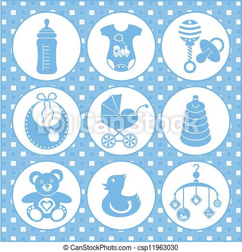 Baby icons - csp11963030