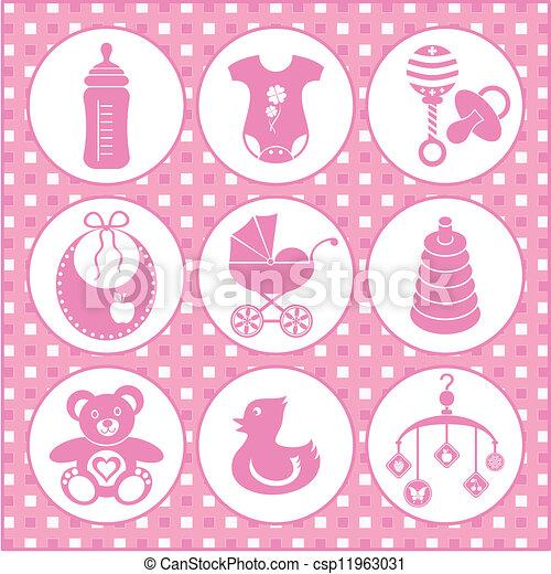 Baby icons - csp11963031