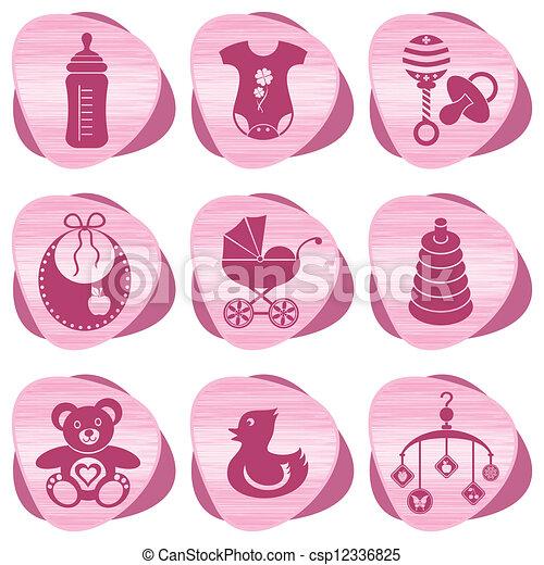 Baby icons - csp12336825