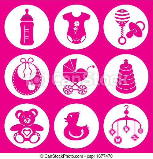 Baby icons - csp11677470
