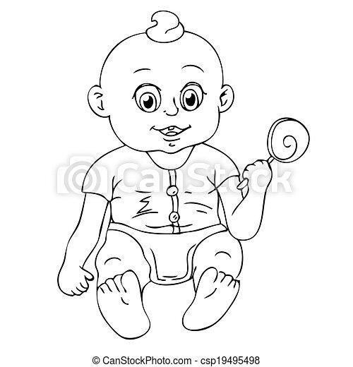 baby, illustratie - csp19495498