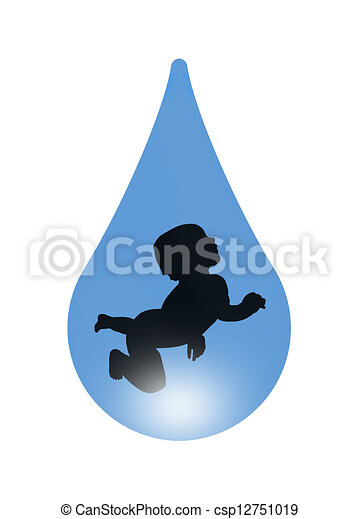 Baby In A Drop Of Water Symbol Of Beginning Of Life And Clipart