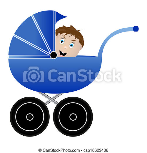 baby in a pram - csp18623406